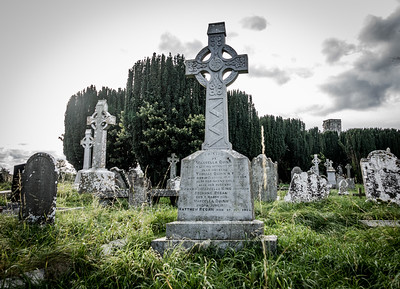 Cemetery at the Cathedral of St. Peter and St. Paul.  Newtown, Trim, Co. Meath, Ireland