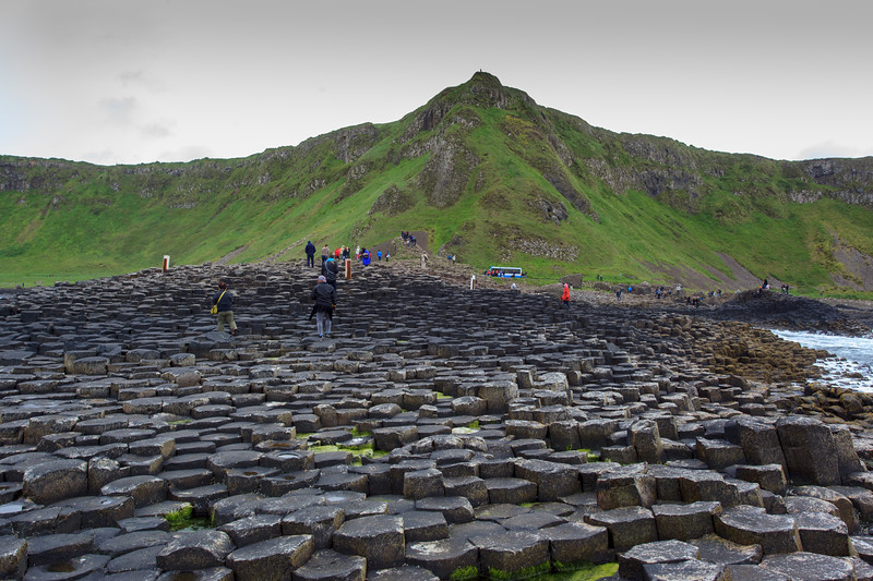 Looking back up the Giant's Causeway