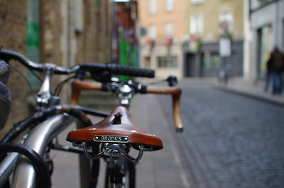 Bikes on Essex Street in Temple Bar