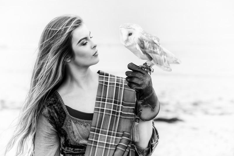 Barn owl and Jessica