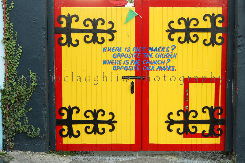 Dick Macks Pub gate, Dingle, Ireland