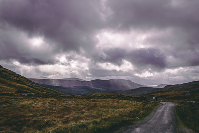 Clouds Rolling in through the Hills of Ireland