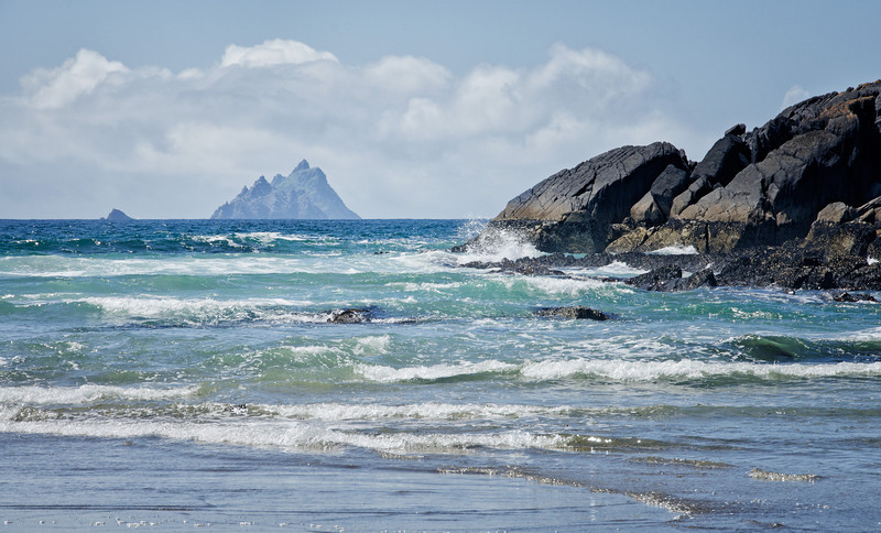 Ring of Kerry, Ireland (Skellig rocks in distance)