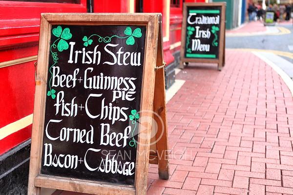Traditional Irish Menu