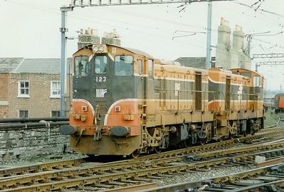 123 at Dublin Connolly on 21st February 1997