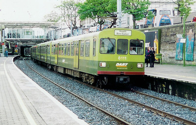 8111 at Dun Laoghaire on 10th May 1999