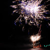 Fireworks on the Queenstown lake in celebration for the start of winter.