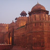 The red fort in Old Delhi