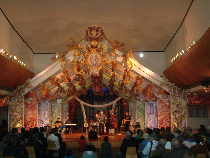 A modern Marae in Wellington Museum