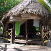 My first fale-Samoan house in the Saleapaga village.