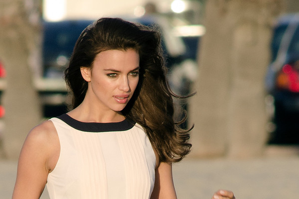 Cristiano Ronaldo's girlfriend Irina Shayk seen in Venice