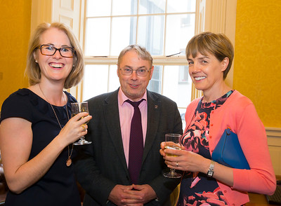 18/05/2016. Irish Accounting & Finance Accociation Annual Conference at WIT (Waterford Institute of Technology). Pictured at The Mayor's reception are Elaine Doyle,  John Maher and Joan Balintine. Picture: Patrick Browne