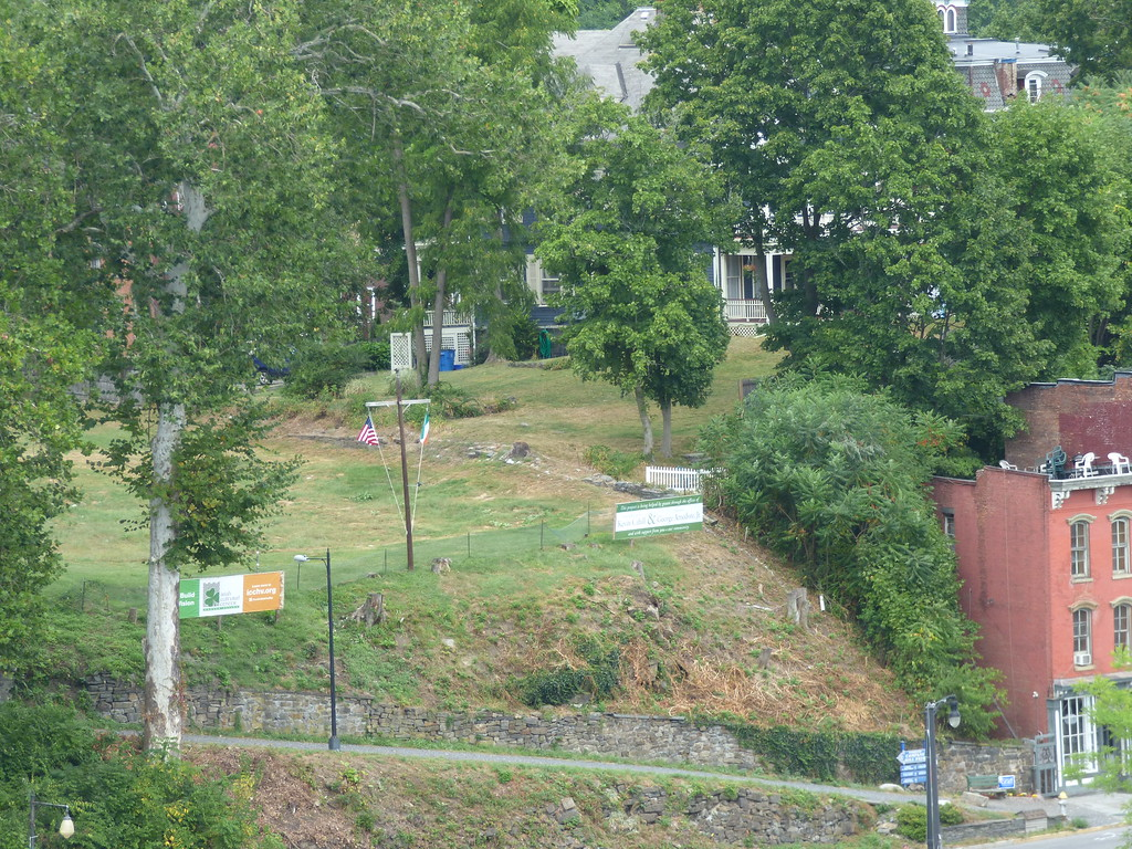 . A view of the proposed site of the Irish Cultural Center as seen from the Wurts Street Bridge.