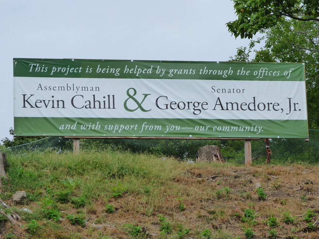 . A sign on the proposed site of the Irish Cultural Center, Kingston, N.Y.