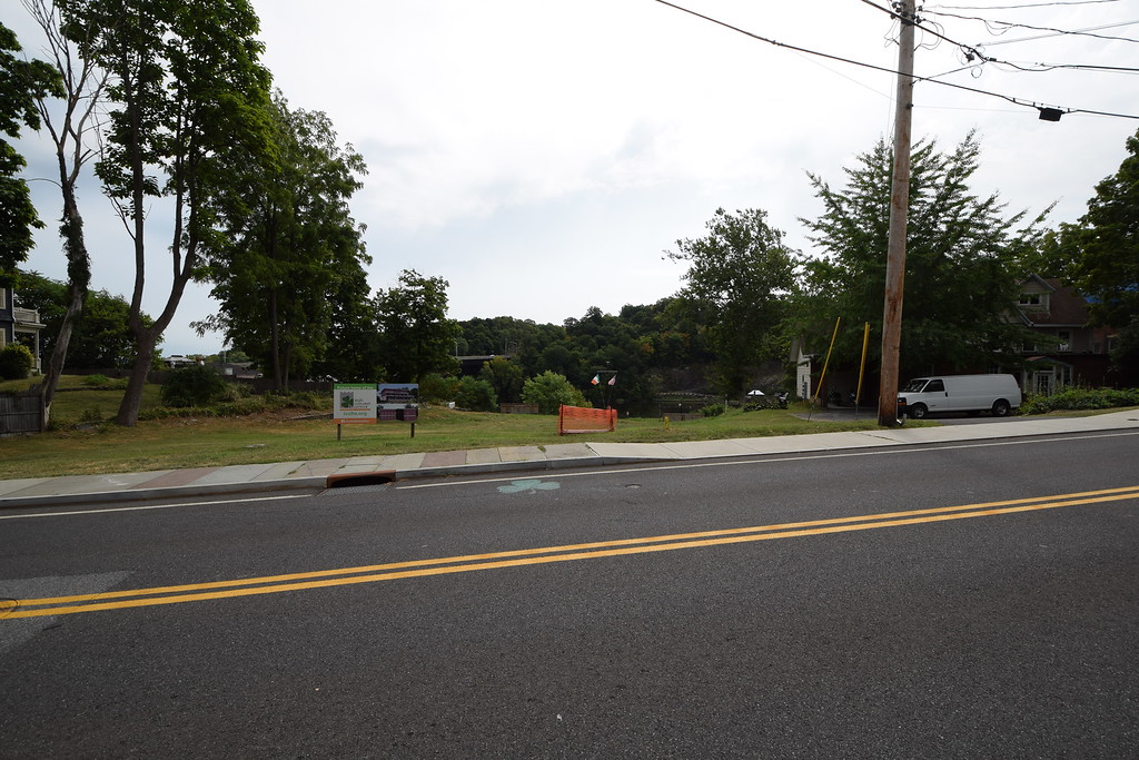 . Looking toward the proposed site of the Irish Cultural Center from across Abeel Street, Kingston, N.Y.