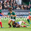 Ireland Women suffered their third defeat in this season's championship going down 17 - 47 to France in front of a record crowd at Donnybrook.