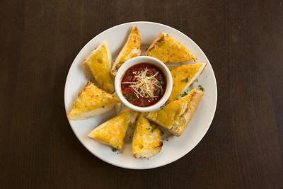 Cheese Bread with marinara sauce