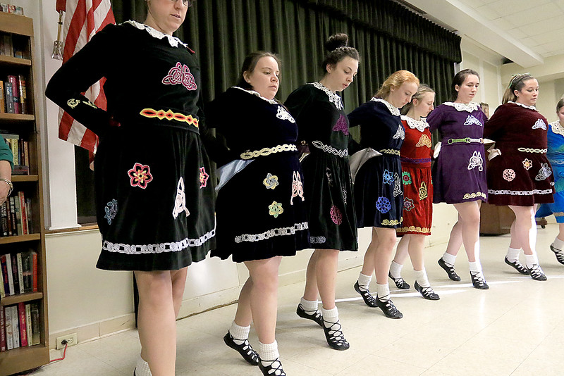 Irish Dancers from Irish American Step Dancers from Leominster performed at the Pilgrim Congregational Church's St. Patrick's Day corned beef and cabbage supper. SENTINEL & ENTERPRISE/JOHN LOVE