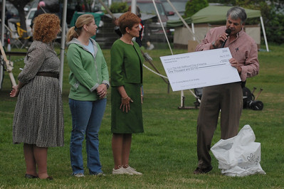 presentation of a check to the IWCA Education fund in Jim's honor donated by his all-breed club