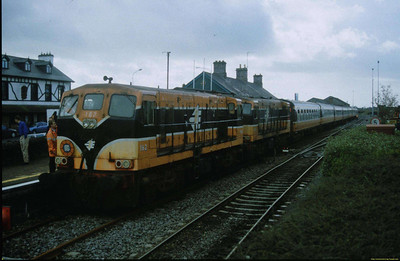 162 and 160 on the ITG Plan C at Ballina.   This was converted to Stirling and Cameron Railtours Plan D when the train returned to Claremorris - we baled to do the advertised trip to Westport, the tour being turned short due to late running with the potential for missing the ferry back