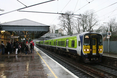2805 northbound at Malahide.  I'm the only idiot outside getting soaked....