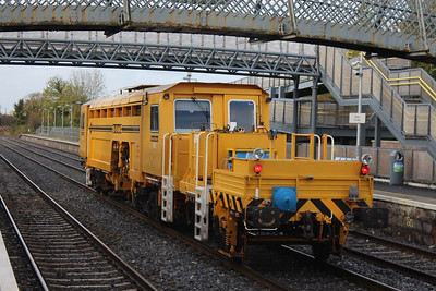 742 - Plasser & Theurer 08-16/4X4C passing through Kildare on 21.10.14.