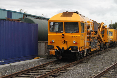 780 - Plasser & Theurer RM76UHR Ballast Cleaner at Kildare on 03.09.11.