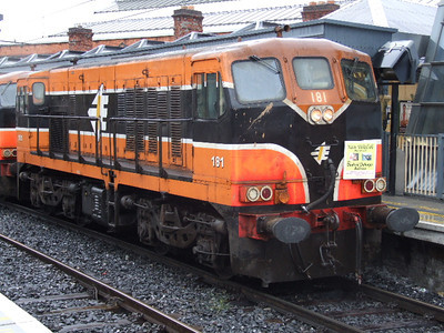 181 at Connolly on 08.07.06 on Chunkrail Railtour.