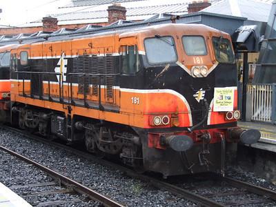 181 at Connolly on 08.07.06 on Chunkrail Railtour.