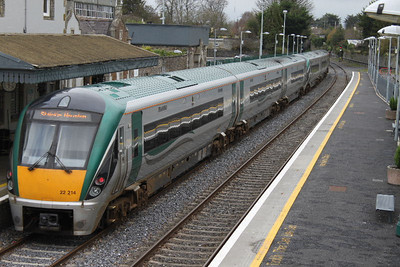 22214 ( + set 26) at Carlow on 26.11.11 on 11.00 Waterford - Dublin service