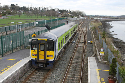 2603 (+2604) on 14.01.12 at Glounthaune on 12.00 Cork - Cobh service.