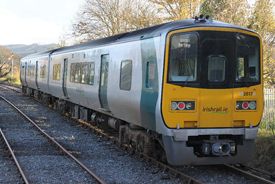 2817 (+ 2818) at Carrick-on-Suir on 10.11.12 on 11.45 Waterford - Limerick Junction service.