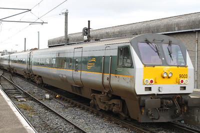 9003 at Connolly on 11.09.11 on 16.00 Dublin - Belfast service.