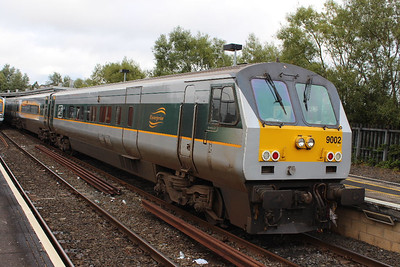 9002 on 07.09.13 awaiting the 18.05 Belfast - Dublin service.