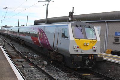 9001 at Connolly on 10.03.16 on 09.35 Dublin - Belfast service.