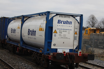 Bruhn Tainer at Kildare on 27.11.13 on IWT  from Ballina to Dublin.