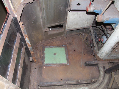 Patch in floor of cab on 26.01.08.