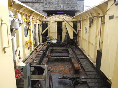 Engine Room on 12.10.08 after removal of engine and generator.