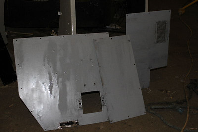 Panels for Central console of Cab No.1 primed on 22.10.11.