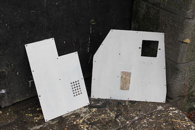 Panels for Central console of Cab No.1 undercoated on 29.10.11.