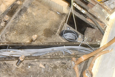Wiring continued though Floor Conduit on 04.06.11.