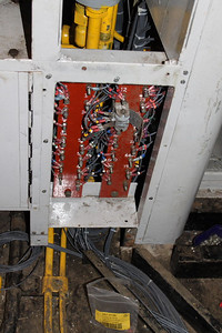 Wires from floor loom have started to be attached to Cab Desk Panel on 19.01.13.