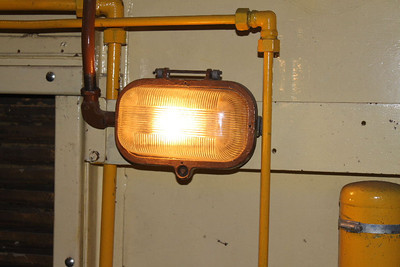 Glasses replaced on 3 of the 6 engine room lamps on 20.01.13.