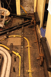 Most of the wooden support for the floor in Cab No.1 replaced on 07.04.12.