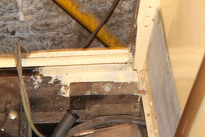 Area of rust on Cab side / floor wire wheeled, primed and painted on 13.05.12.