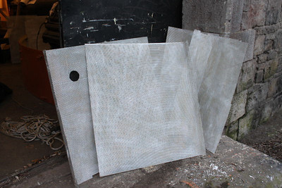 Third and Final Batch of Wall Mesh from G616 Cab wire brushed and undercoated on 11.02.12.
