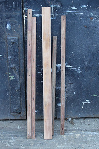 Wooden Batons to hold Cab Wall Mesh in place sanded back to wood on 15.12.12.