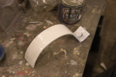 Bracket to hold Cab heating pipe painted on 16.02.13.