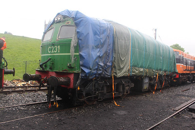 C231 on arrival at Downpatrick on 07.06.14.