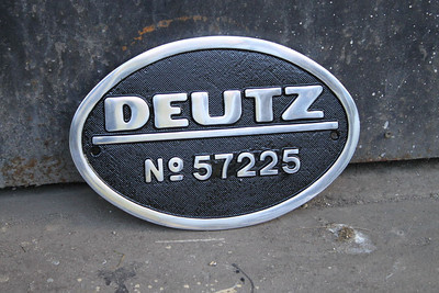Manufacturers Plate for G611 on 24.04.11.